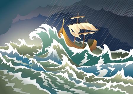 catastrophe: Navire coul� dans la temp�te