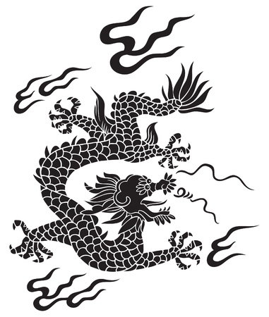 Traditional Chinese dragon, lord of air and water Stock Vector - 8464588