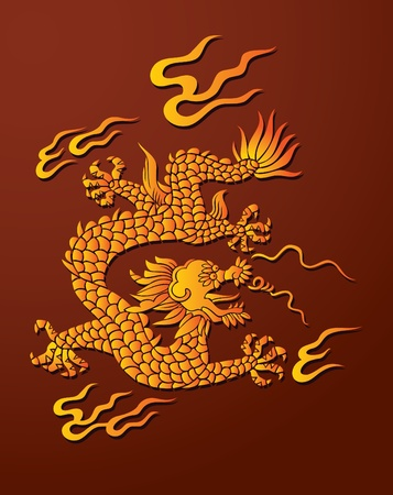 Traditional Chinese dragon, lord of air and water Stock Vector - 8464589
