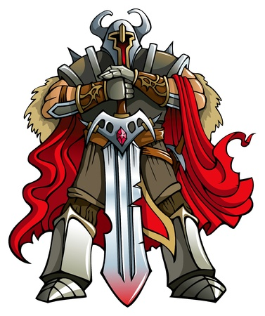 paladin: Crusader knight with huge sword