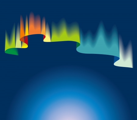 polar lights: Northern or polar lights, copy-space background