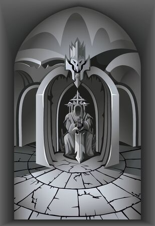 The darkest depths of Evil Lord dwelling Ilustracje wektorowe