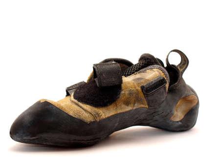 zapatos de seguridad: Zapatos escalados sobre un fondo blanco