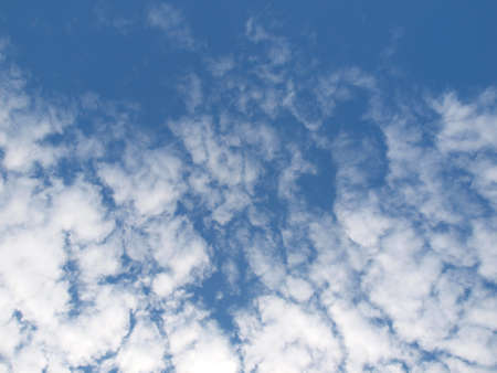 puffy: Unusual clouds in the sky in summer