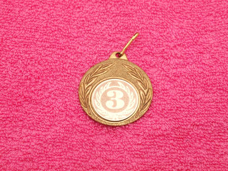 Medal on a fabric photo