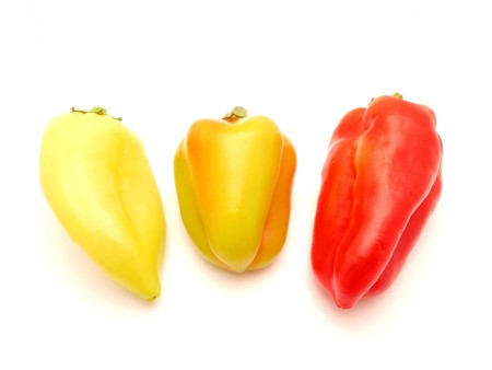 r sliced: Pepper on a white background       Stock Photo