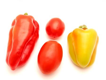 r image: Verduras sobre un fondo blanco