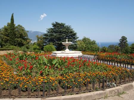 fountainhead: The fountain in the park near Livadia Palace, Crimea