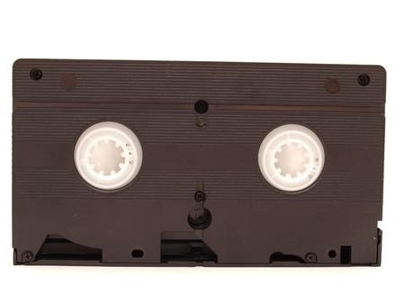 videocassette: Cinta de v�deo sobre un fondo blanco