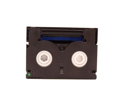 videocassette: Videocassette on a white background     Stock Photo