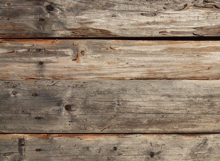 Pattern of old weathered timbered wall            Stock Photo