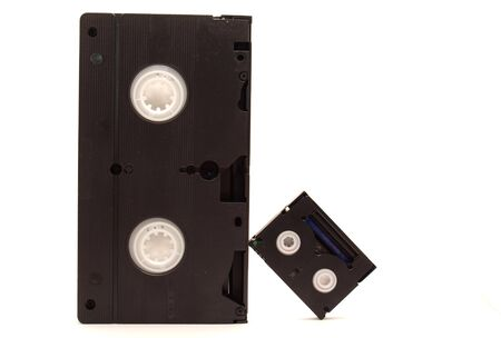 videocassette: Videocassettes on a white background      Stock Photo