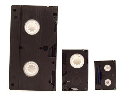 videokassette: Videokassetten auf wei�em Hintergrund  Lizenzfreie Bilder