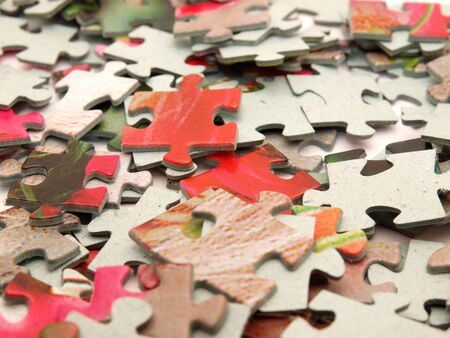 Puzzle. A background      Stock Photo
