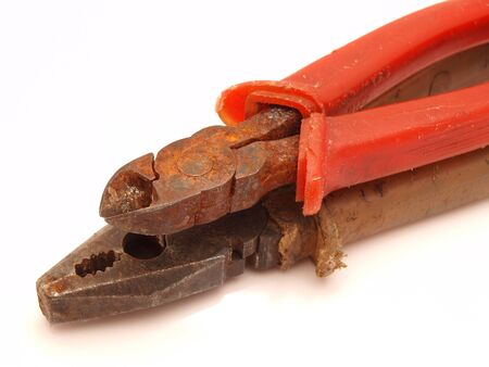 flatnose: Flat-nose pliers on a white background