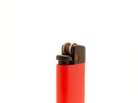 Lighter on a white background photo