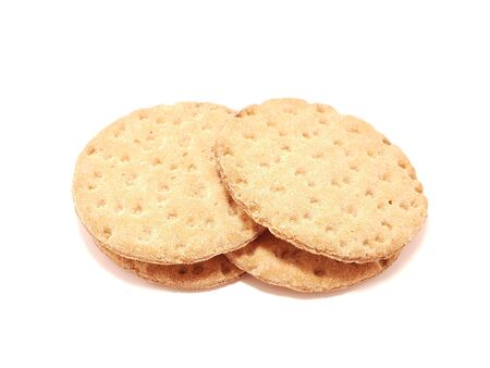 Crackers on a white background photo