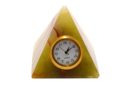 Quartz watches in the form of a pyramid on a white background