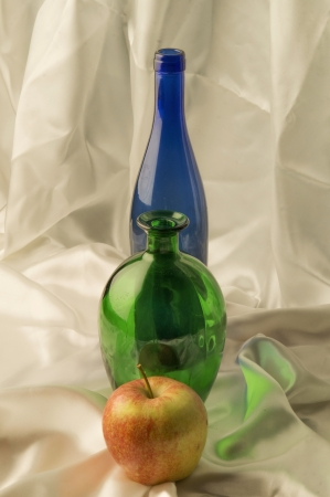 Bottle on a light background photo