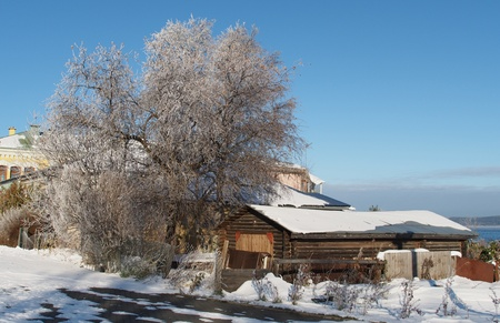 house in winter photo