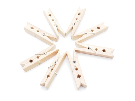 wooden peg on a white background  Stock Photo - 16176441
