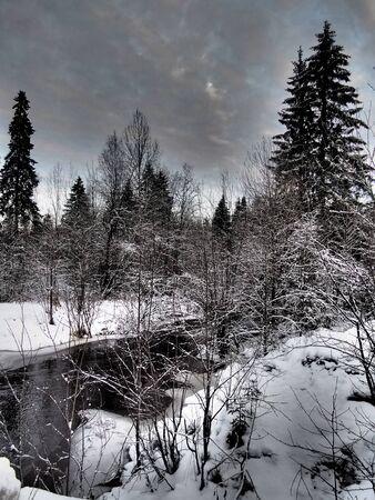 river in winter photo