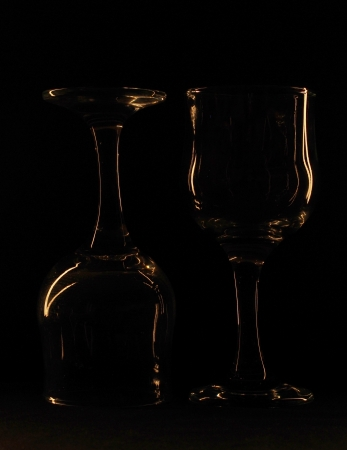 glass against a dark background Stock Photo - 16964543