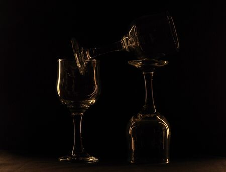 glass against a dark background Stock Photo - 16964619