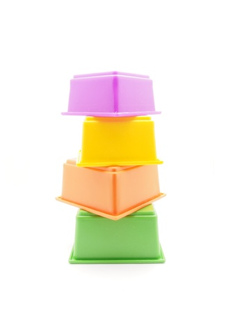 stackable: Childrens pyramid on a white background