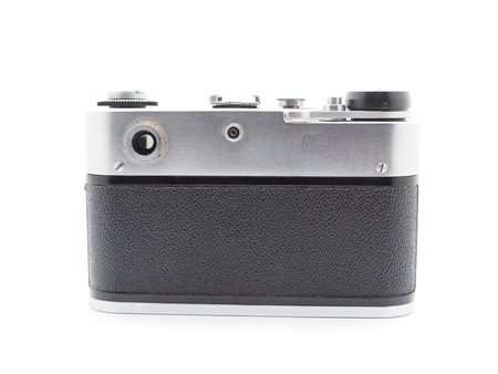 Old camera on a white background  Stock Photo - 17568535