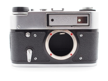 Old camera on a white background Stock Photo - 17568532