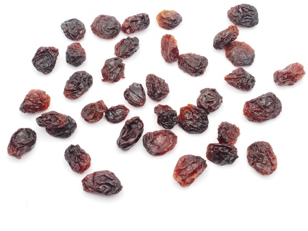 Raisins on the white background 免版税图像