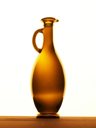 gold capped: Bottle on a white background