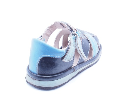Childrens shoes on a white background