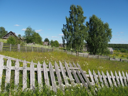 fence in the countryside photo
