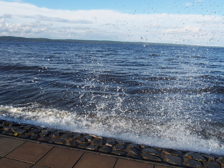 waves on the seafront photo
