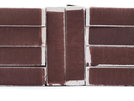 matchbox: matchbox on a white  Stock Photo