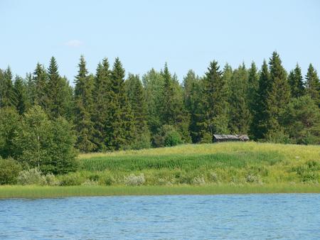 ladoga: beautiful lake in Karelia Stock Photo