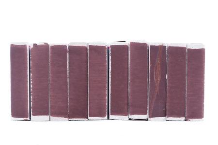 dvd case: matchbox on a white  Stock Photo