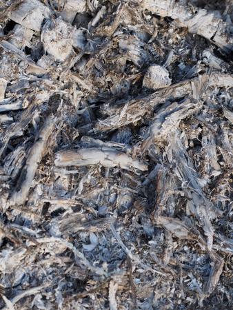 smoldering: ash.