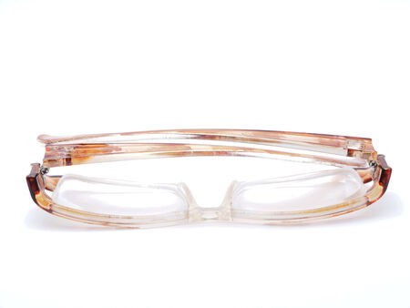 rimmed: glasses on a white background