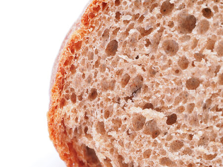 bread on a white background photo