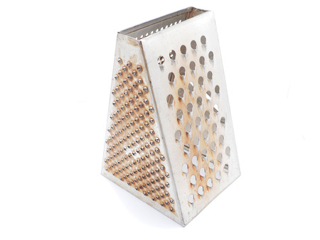 metal grater: Metal grater on a white background  Stock Photo