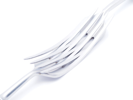 forks on white background photo