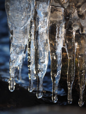 wintrily: icicles Stock Photo
