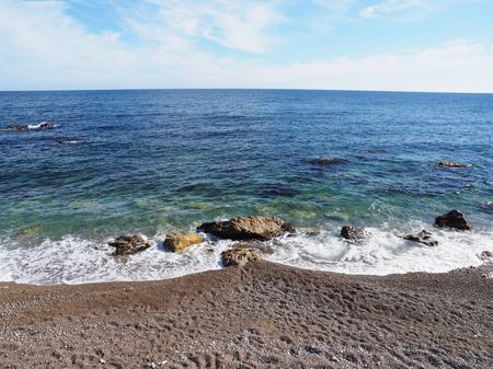 the black sea: the Black Sea coast Stock Photo