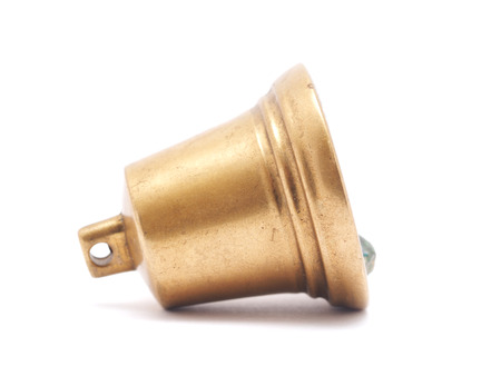 resonate: bell on a white background Stock Photo