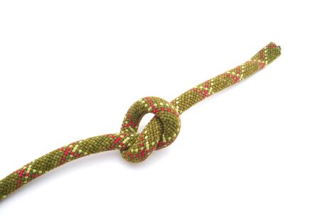 belaying: knot on a white background