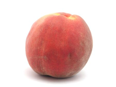 jhy: Peaches on a white background