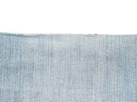 denim fabric: denim fabric on a white background